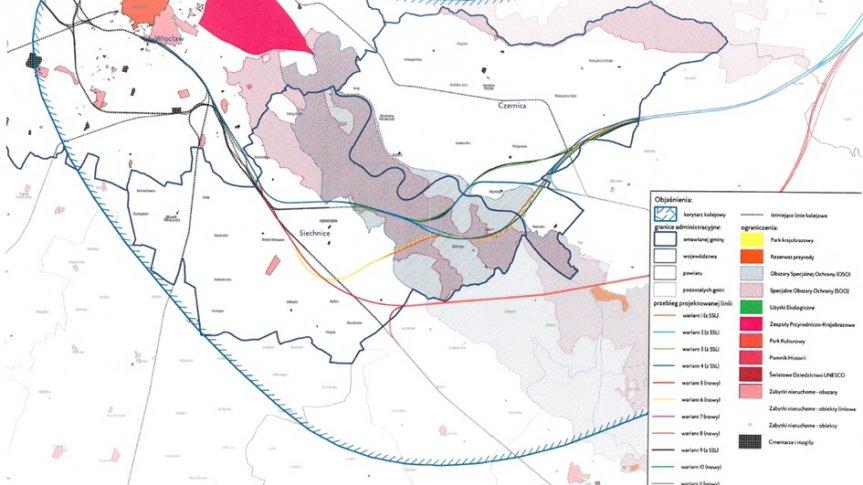 Sprzeciw Mieszkańców Gminy Siechnice dla realizacji linii kolejowej dużych prędkości