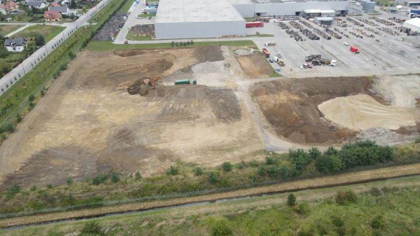 Trwa budowa nowej hali magazynowej o powierzchni 25 tys. mkw. (źródło 3LP SA)